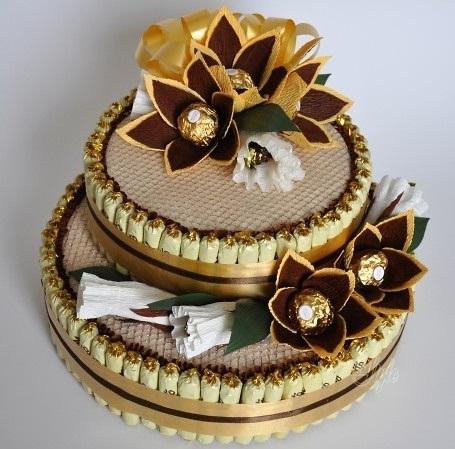 Торт из конфет своими руками: как сделать?