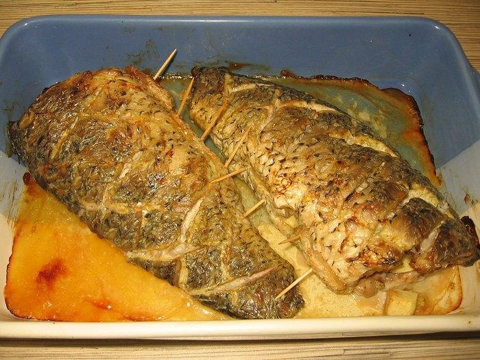 Толстолобик запеченный в фольге с картофелем, рецепт 93