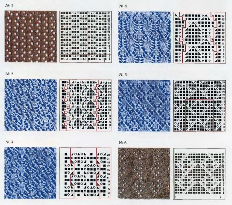 Схемы для вязания на спицах 15