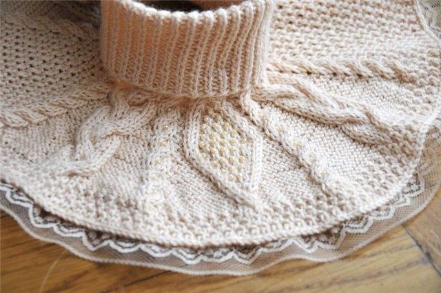 Вязание манишки для начинающих