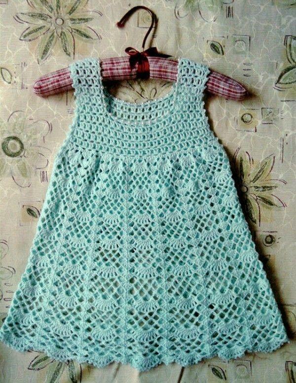 Вязание платья крючком: схемы