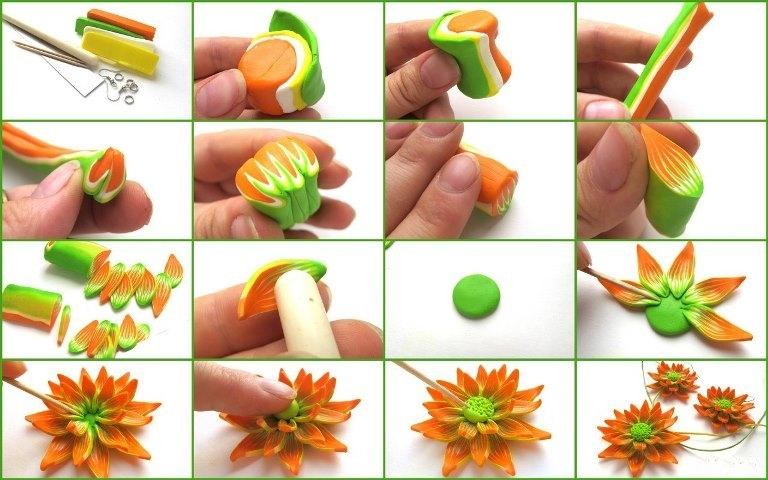 Цветы из полимерной глины: