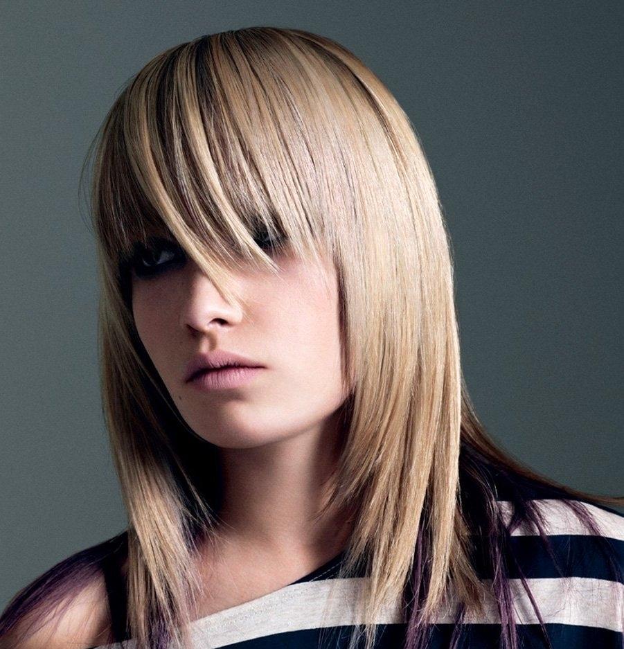 Укладка волос средней длины (55 фото) С челкой 42