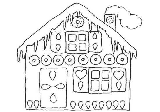 Украшение для окон из бумаги: шаблон дом