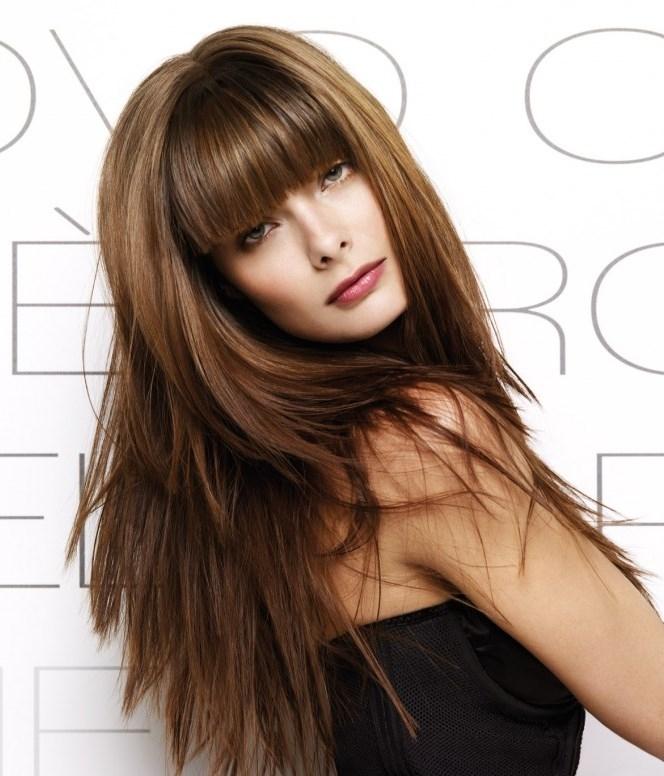 Красивая причёска на длинные волосы с чёлкой своими руками