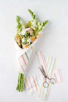 Как упаковать цветы?