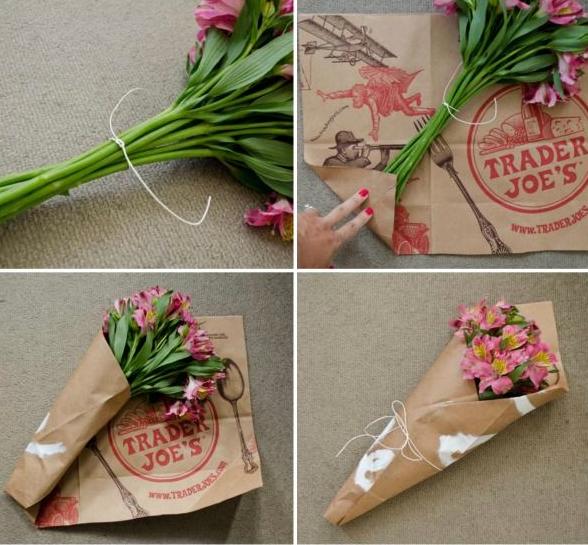 Как упаковать цветы своими руками фото