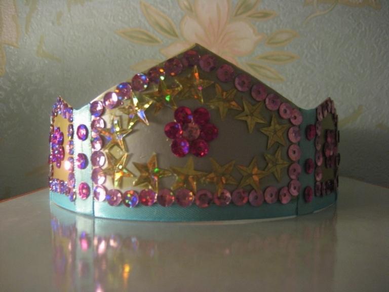 Корона снежинки своими руками корона