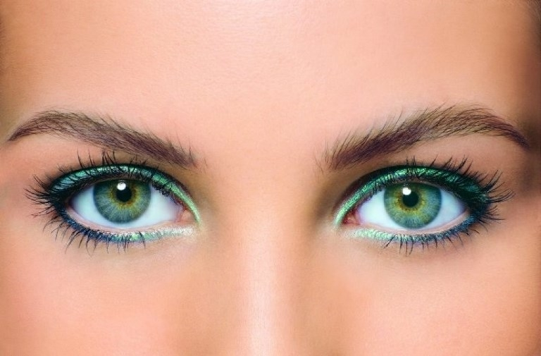 Вечерний макияж синий цвет