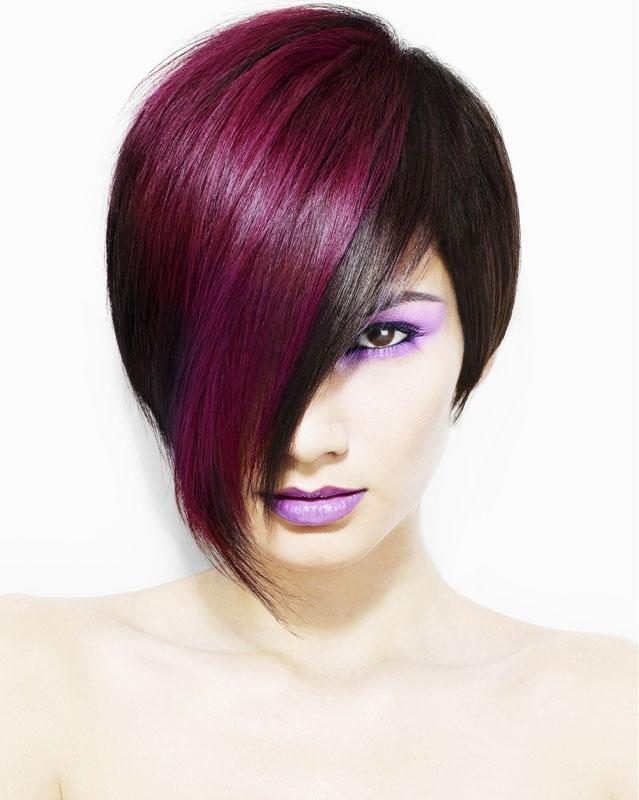 фото с покраской волос в два цвета козырёк над