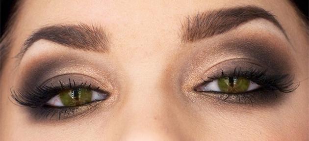 Вечерние макияжи фото для каре-зеленых глаз
