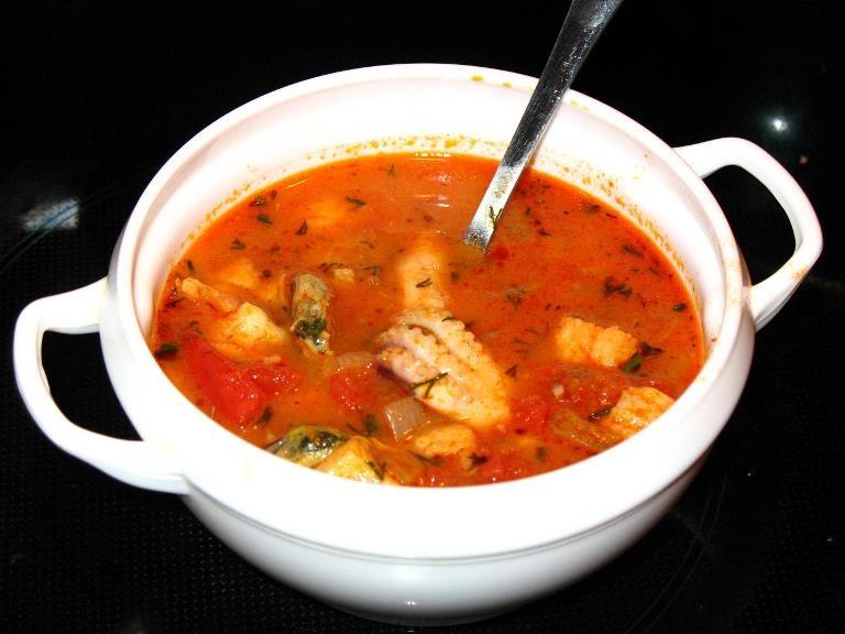 суп из морепродуктов на сливках рецепт