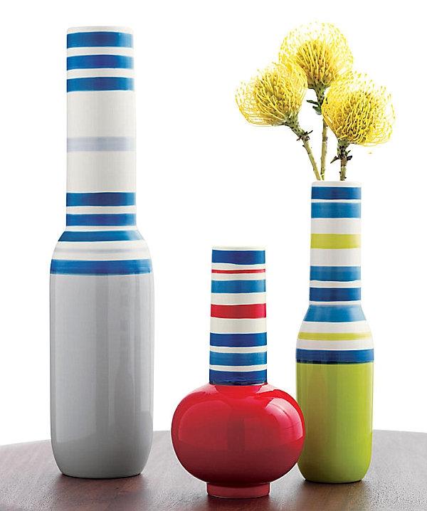 Полосатая ваза: как сделать?
