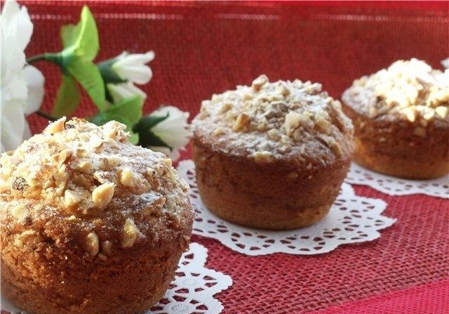Кекс с орехами: рецепт