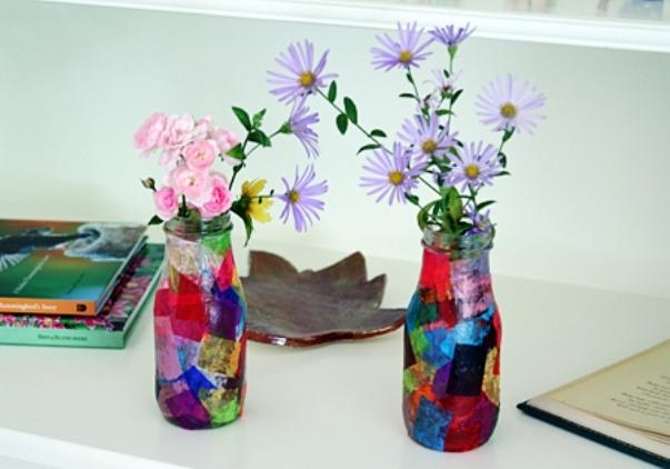 Как украсить вазу своими руками?