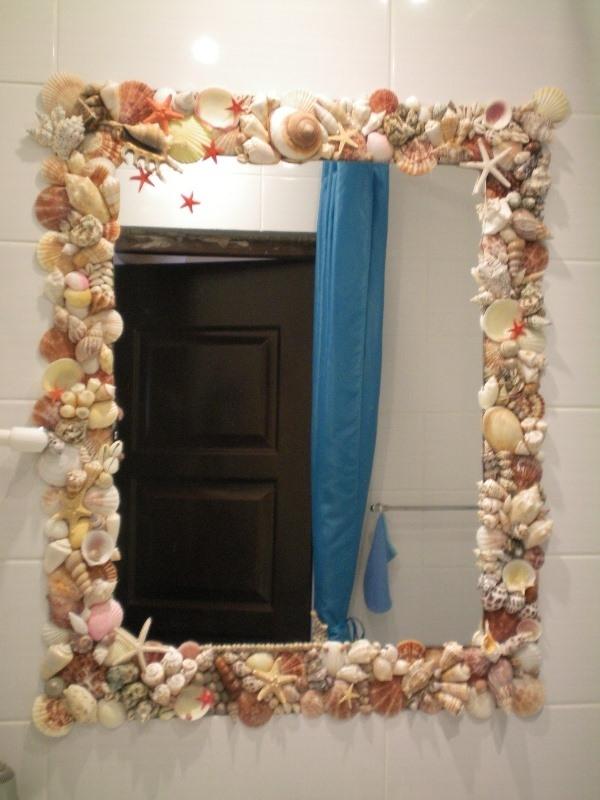 Как красиво задекорировать зеркало своими руками 82