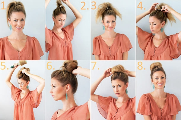 Как сделать высокую прическу на средние и длинные волосы?
