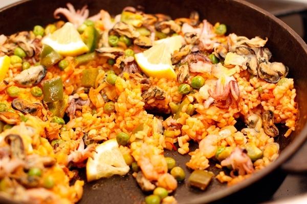 Рецепт приготовления паэльи с морепродуктами