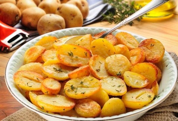 рецепт жаренной картошки на сале с фото