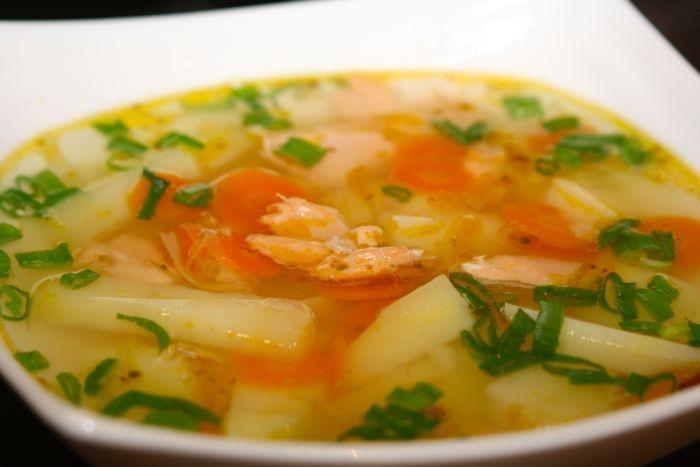 рецепт приготовления супа уха из лосося
