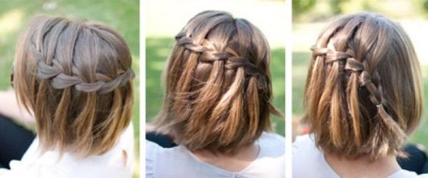 Прически плетение волосы с челкой