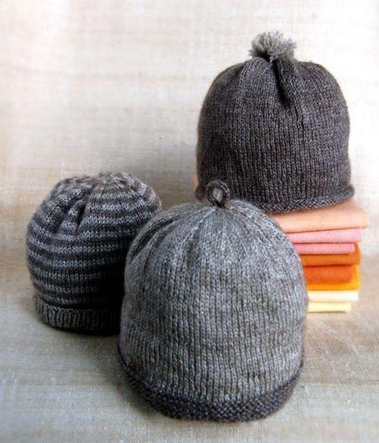 Детская шапочка спицами для мальчика