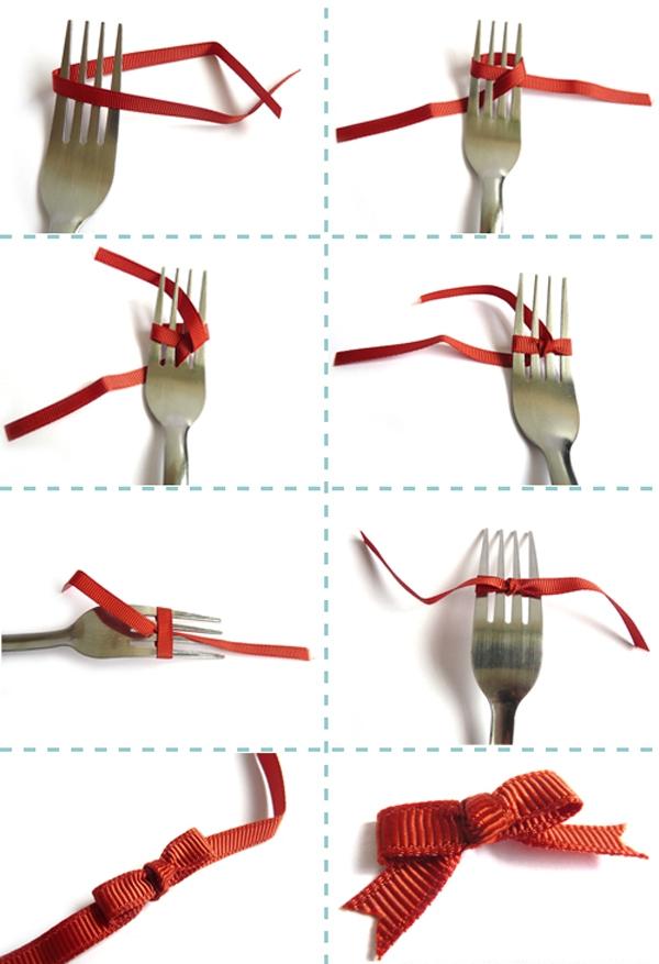 Как сделать бантик из ленты своими руками