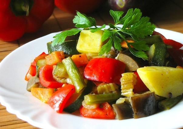 Рагу из замороженных овощей