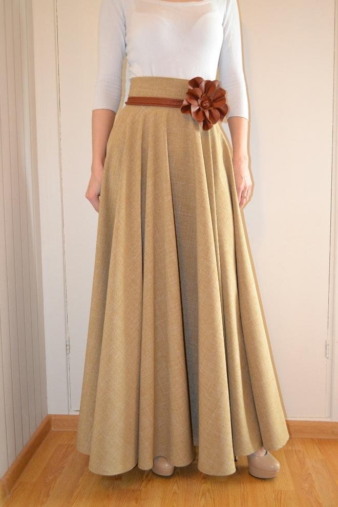 Как сшить длинную юбку для дома