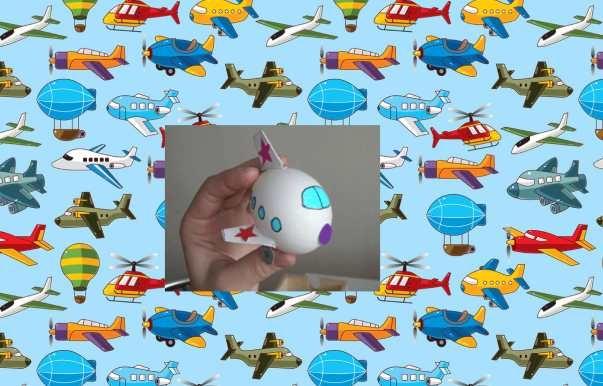 Самолет из яйца: как сделать?