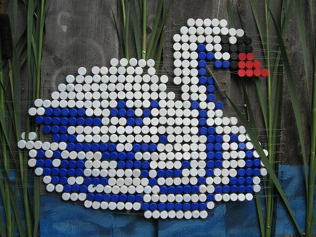 Мозаика из пластиковых пробок: правила изготовления