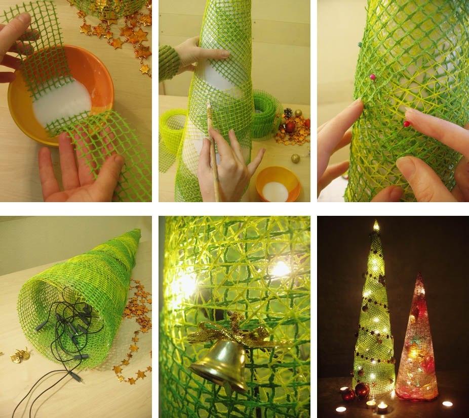 Сделать елку своими руками в подарок