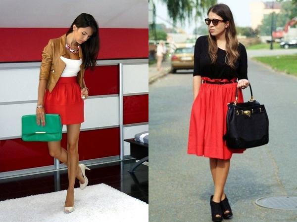 Если девушка одела красную юбку