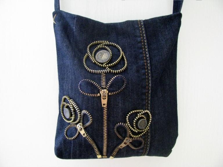 Выкройка джинсовой сумки: пример