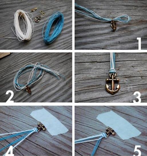 Как сделать браслет из ниток?