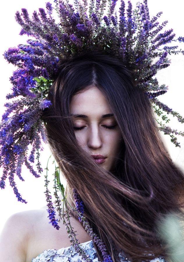 Венок из цветов на голову