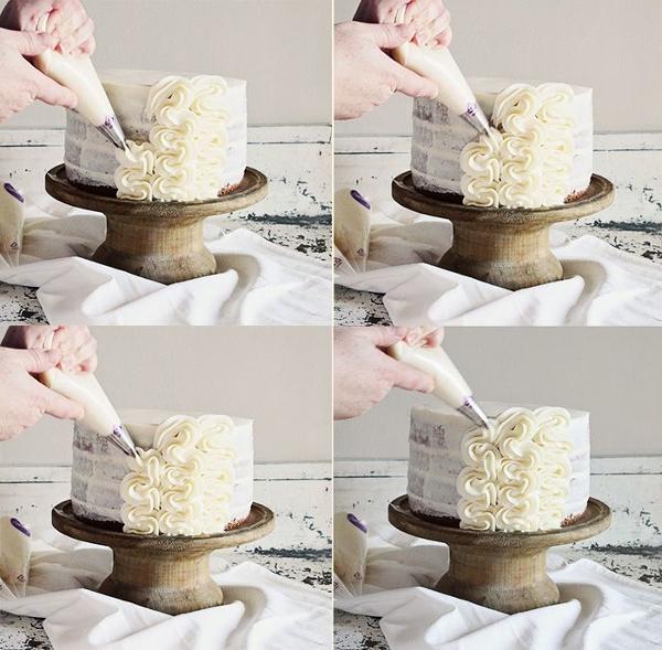 Способы украшения тортов фото