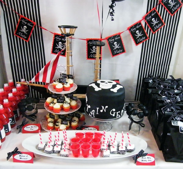 Пиратская вечеринка украшение зала своими руками 34