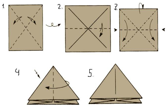 Пирамида из бумаги своими