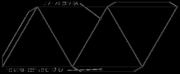Пирамида своими руками из картона схема