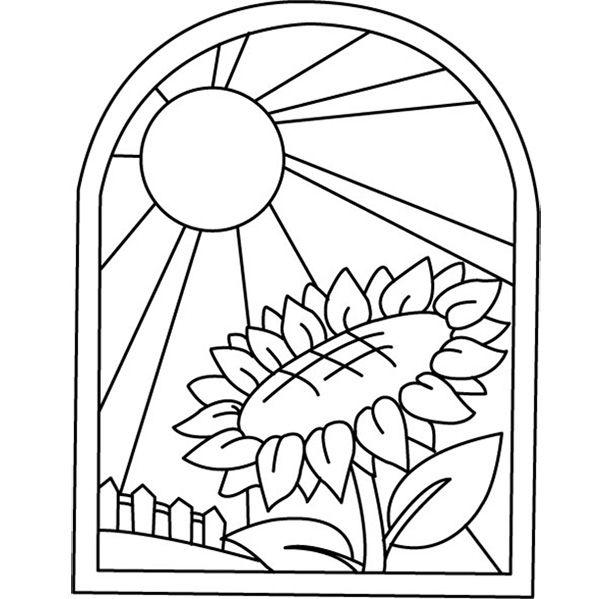 Шаблоны для витражей в окно