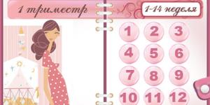Календарь беременности по неделям рассчитать дату родов