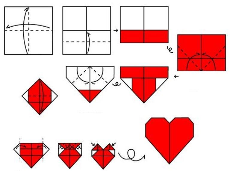Возьмите квадратный лист