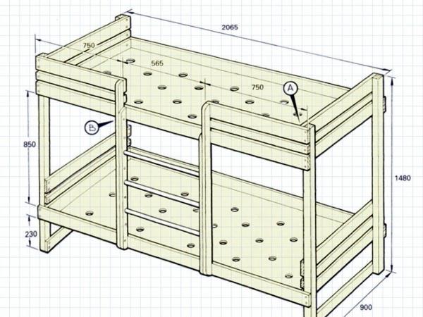 Как сделать детскую двухъярусную кровать своими руками фото 37