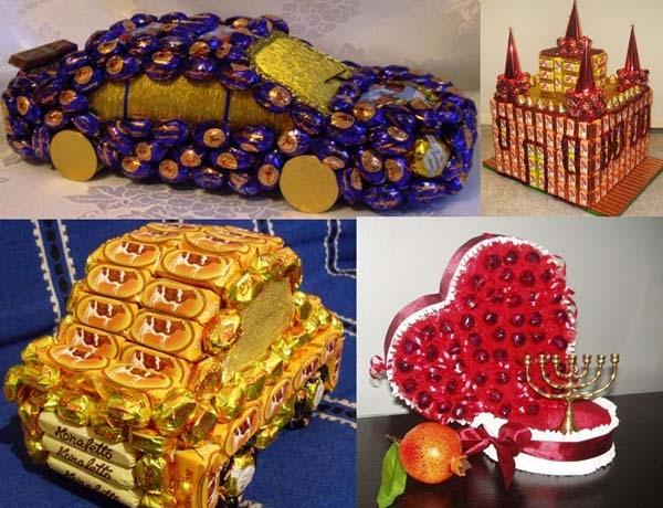 Поделки из конфет