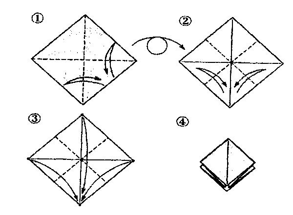 Оригами из бумаги: птица