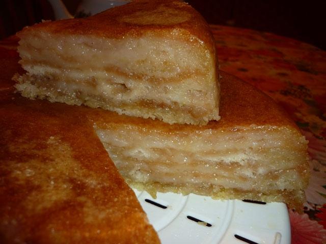 Пирог с яблоками и манкой в мультиварке рецепты с фото