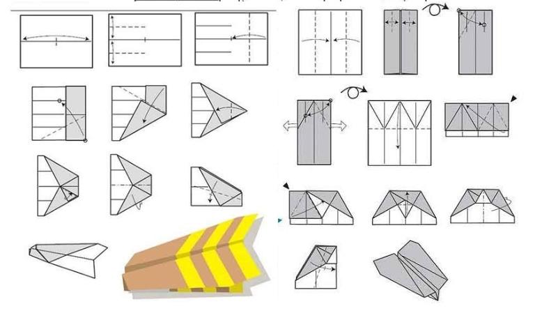 модели бумажных самолетов,