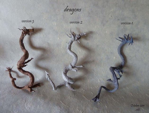 Дракон из бумаги: фото