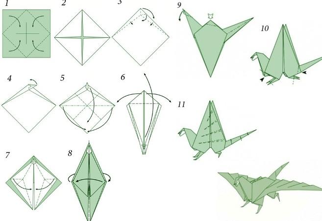 Как сделать дракона из бумаги?
